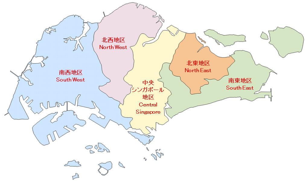 シンガポール地図 CDC