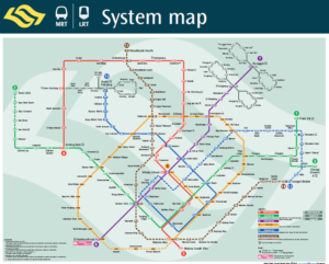 シンガポール路線図