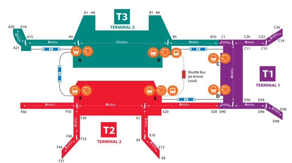 チャンギ空港 地図